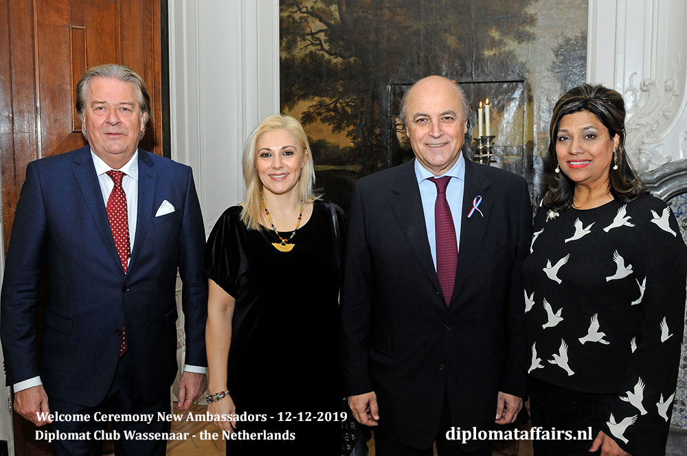 10a.jpg Mr Peter Bliek, Mrs Annamaria Panagiotakopoulou, Ambassador of Greece H.E. Mr Nicolas Plexidas, Mrs Shida Bliek Diplomat Affairs Magazine