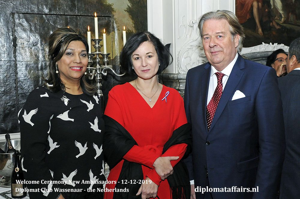 10c.jpg Mrs Shida Bliek, Ambassador of Czech Republic H.E. Ms Kateřina Sequensová, Mr Peter Bliek Diplomat Affairs Magazine