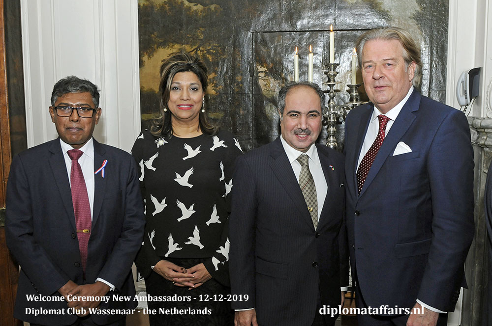 10d - Ambassador of Sri Lanka, H.E. Mr Amaral S. Nakandala, Mrs. Shida bliek, Ambassador of the State of Kuwait, H.E. Mr Abdul-Rahman Al-Otaibi, Mr Peter Bliek, President of TenRande Foundation Diplomat Affaris Magazine