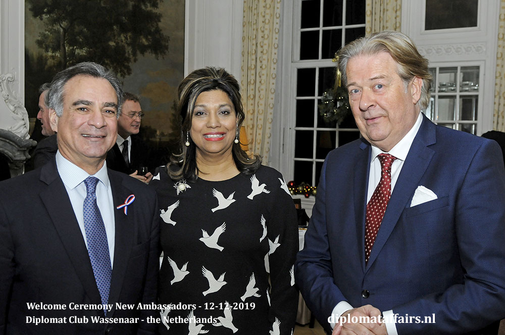10f.jpg Ambassador of Guatemala H.E. Mr Jorge Skinner-Klée Arenales, Mrs Shida Bliek, Mr Peter Bliek Diplomat Affairs Magazine