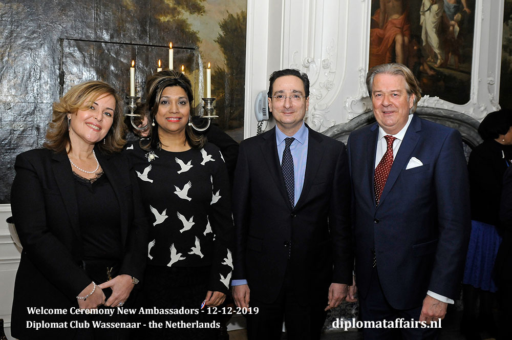 11.jpg Mrs Sian Sharar, Mrs Shida Bliek, the Ambassador of the Hashemite Kingdom of Jordan, H.E. Mr Nawaf W. Tell and Mr Peter Bliek Diplomat Affairs Magazine