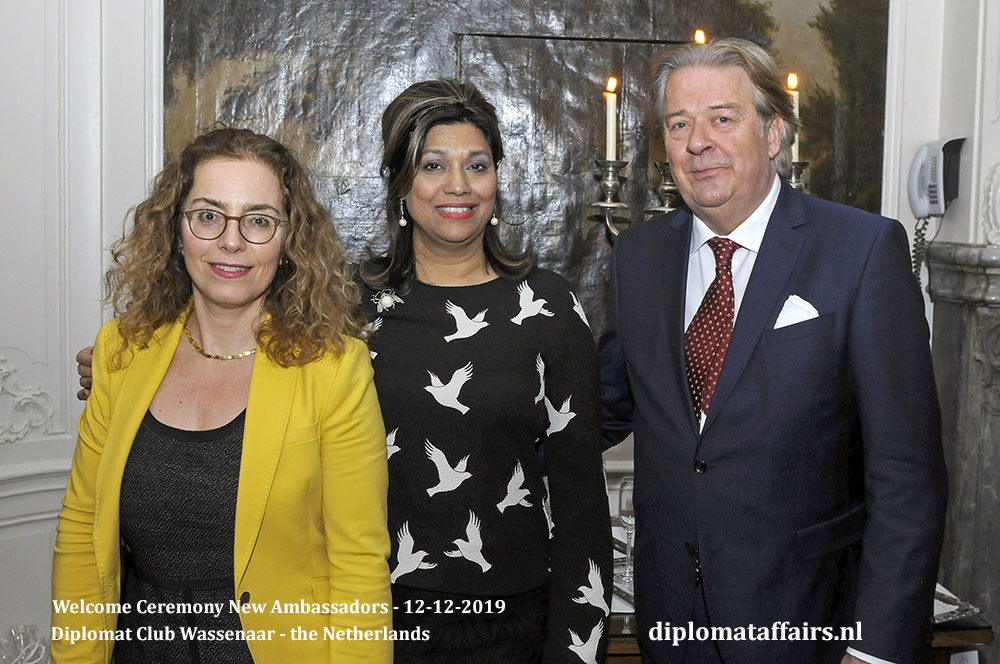 16.jpg Ambassador of Uruguay H.E Ms. Laura Dupuy, Mrs Shida Bliek, Mr Peter Bliek Diplomat Affairs Magazine