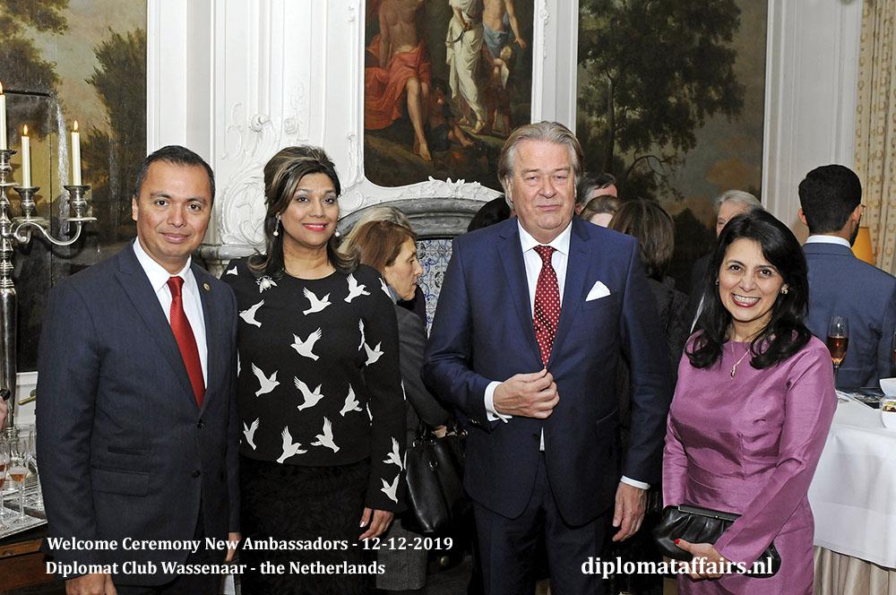 17.jpg Ambassador of El Salvador H.E. Mr Agustín Vásquez Gómez, Mrs Shida Bliek, Mr Peter Bliek, Prof Mirelle Pocasangre de Vásquez Diplomat Affairs Magazine