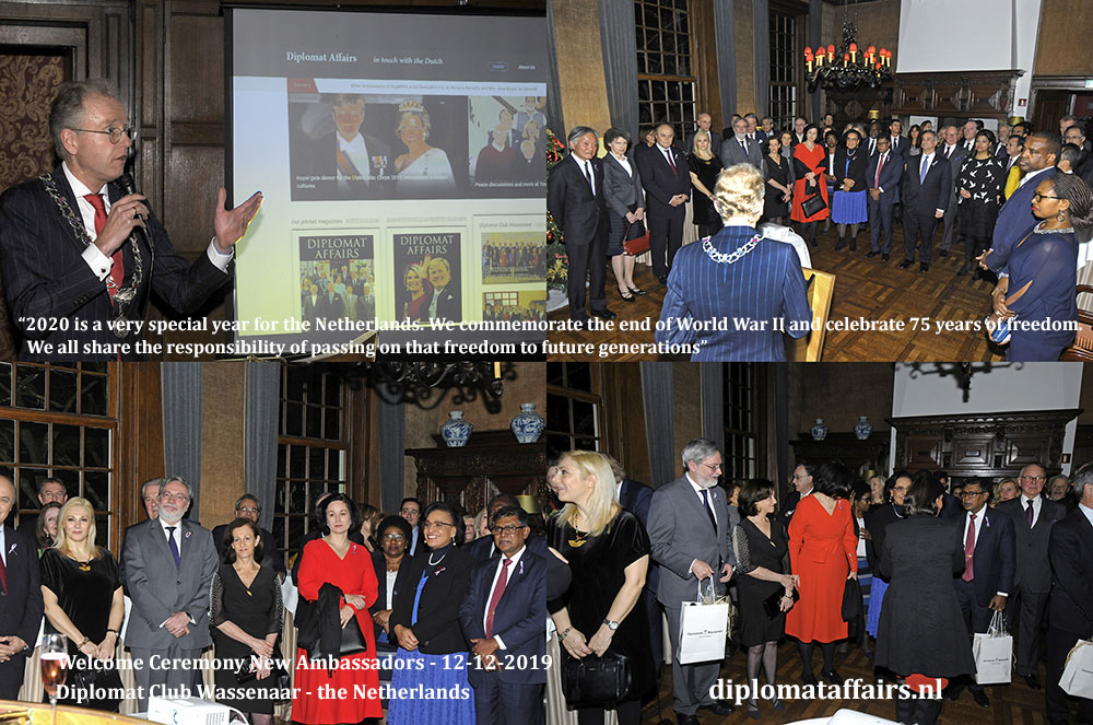 3.jpg Mayor Leendert de Lange commemorates the end of World War II and the celebration of 75 years of freedom for the Netherlands in 2020 Diplomat Club Wassenaar Diplomat Affairs Magazine