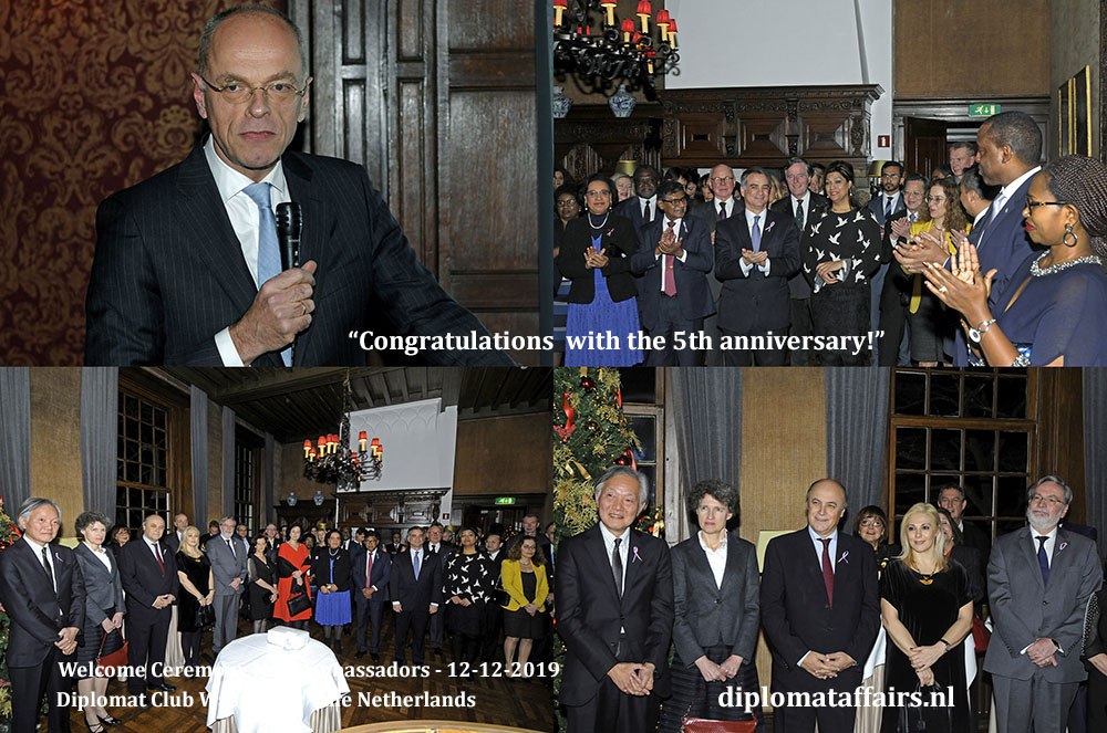 5.jpg President of the Senate of the Netherlands, H.E. Prof Dr Jan Anthonie Bruin congratulates Diplomat Club Wassenaar with the 5th anniversary Diplomat Affairs Magazine