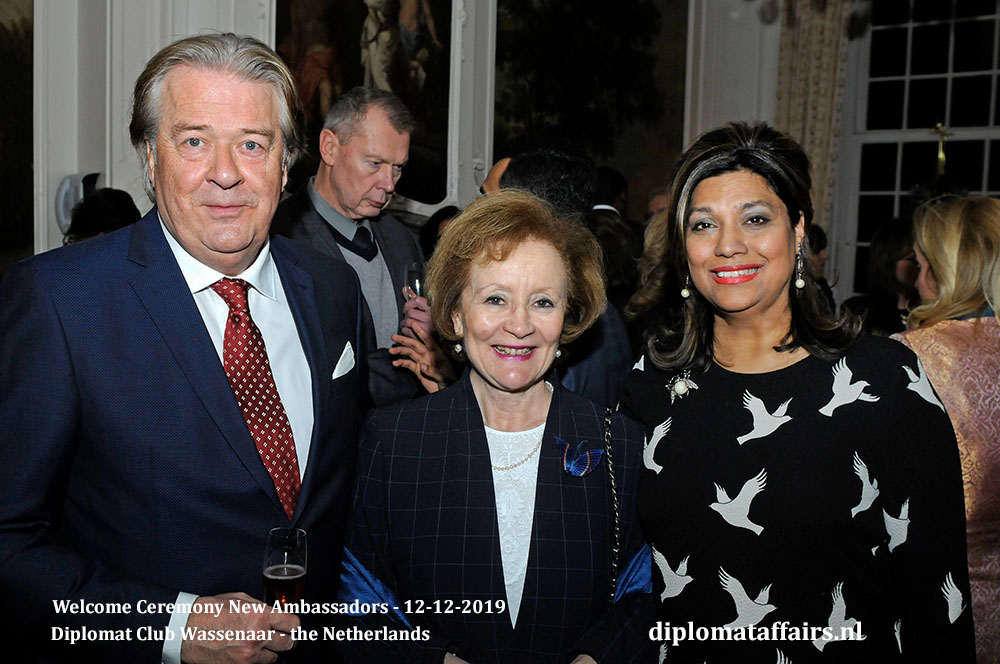 5c.jpg Mr Peter Bliek, Ambassador of Chile H.E. Prof María Teresa Infante, Mrs Shida Bliek Diplomat Affairs Magazine