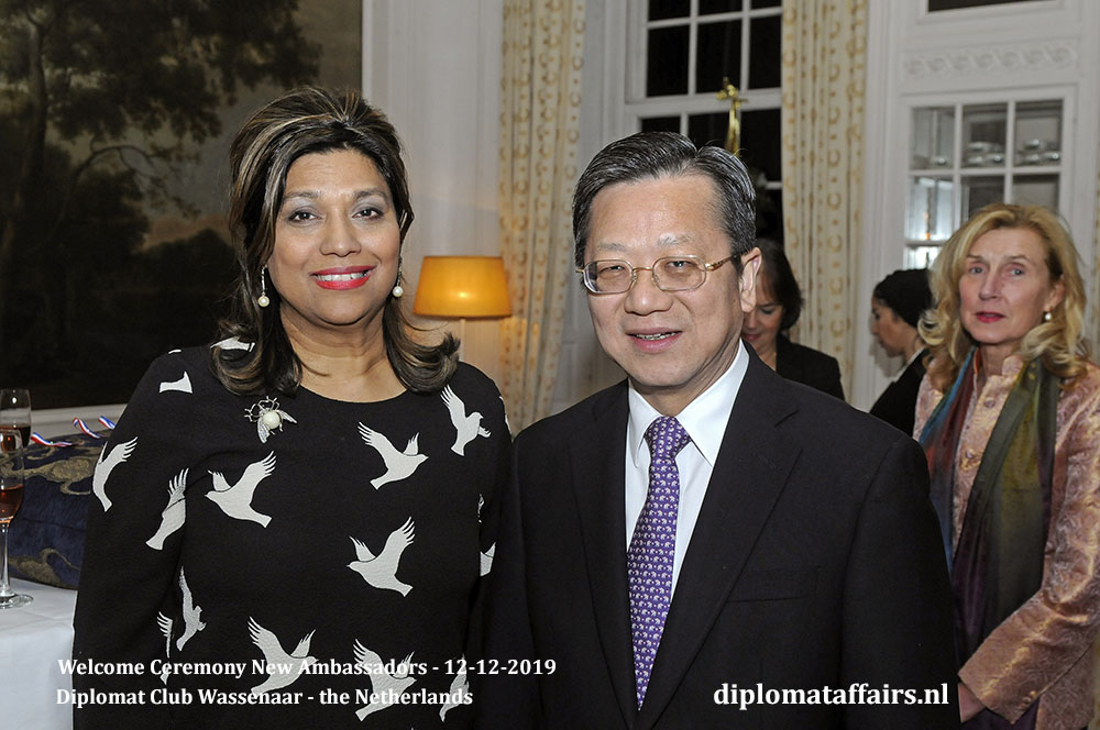 6.jpg Mrs. Shida Bliek founder and President of Diplomat Club Wassenaar and the Ambassador of China, H.E. Dr XU Hong Diplomat Affairs Magazine