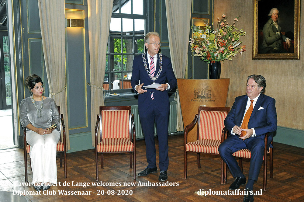 Welcome New Ambassadors hosted by Mayor Leendert de Lange and Mrs. Shida Bliek Diplomat Affairs Magazine